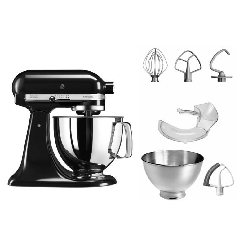 Virtuves kombains KITCHENAID 5KSM125EOB artisan mikseris