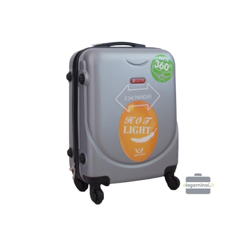 Rokas bagāža koferis Gravitt 310A-M Sudrabs