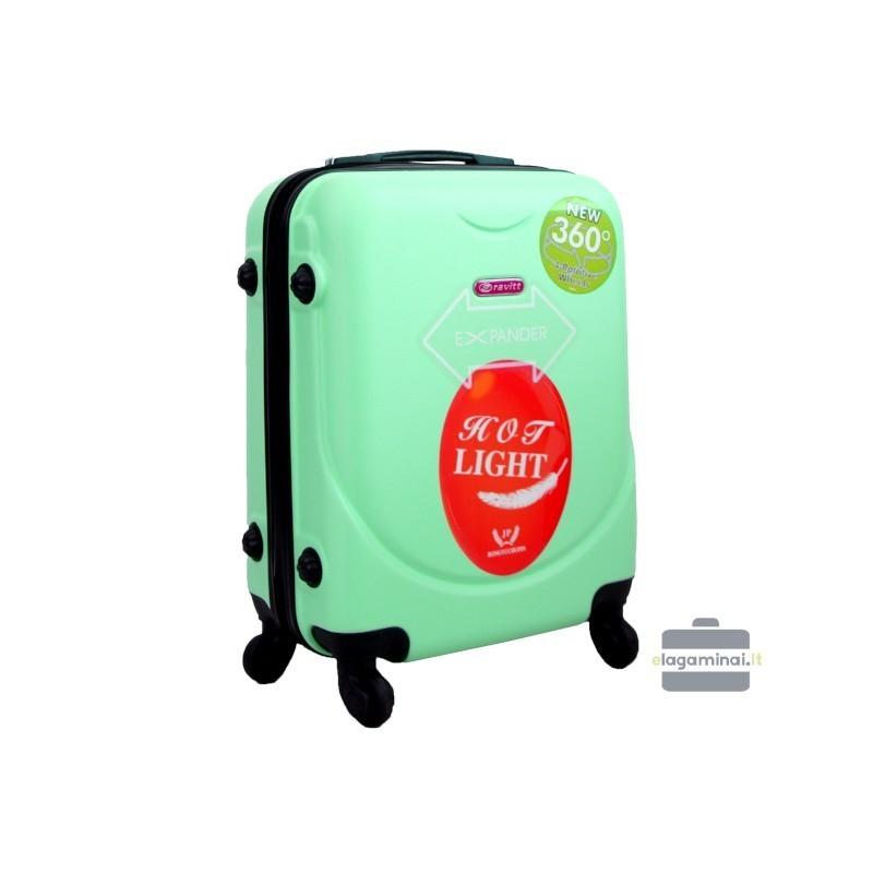 Rokas bagāža koferis Gravitt 310A-M gaiši zaļš