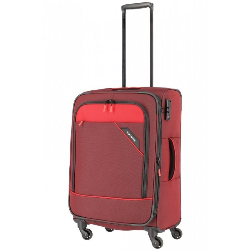 Vidējais koferis Travelite Derby V sarkans