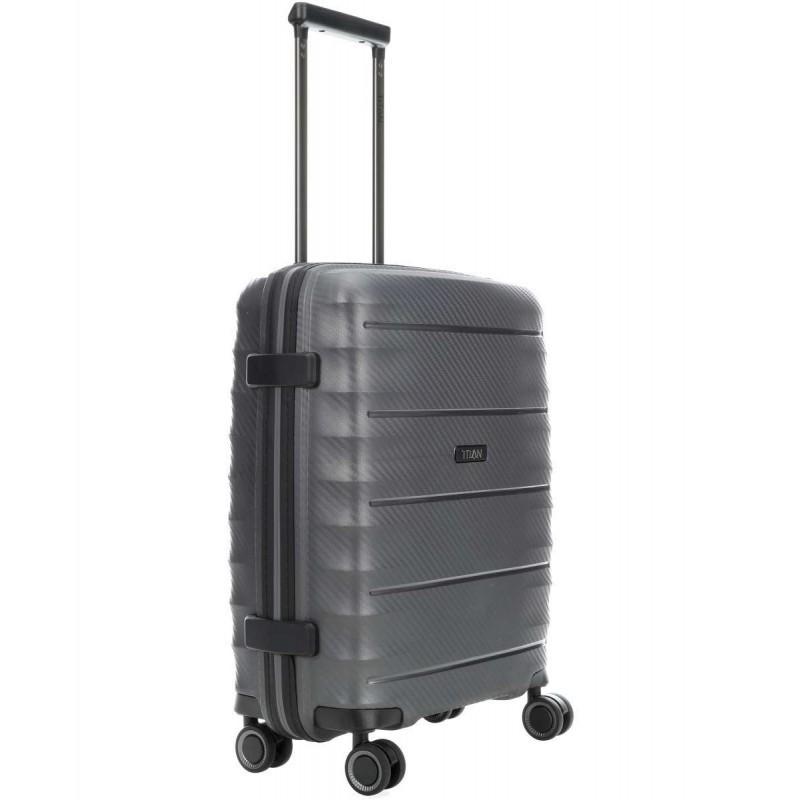 Rokas bagāža koferis Titan Highlight-M tumši pelēks
