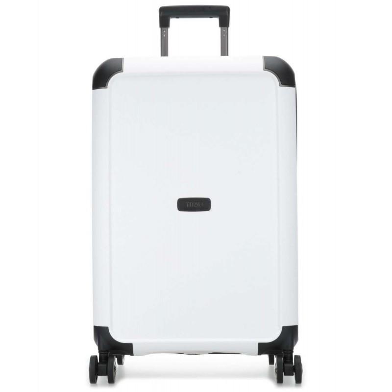 Vidējais koferis Titan Compax-V balts