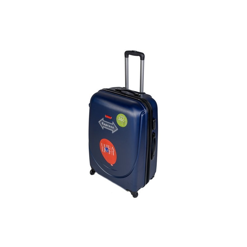 Vidējais koferis Gravitt 310-2Z-V tumši zils