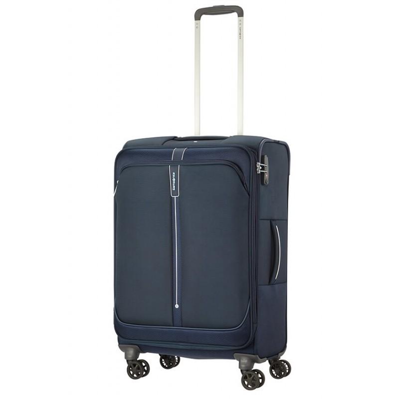 Vidējais koferis Samsonite PopSoda V tumši zils