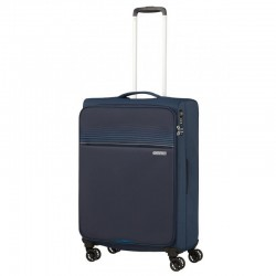 Vidējais koferis American Tourister Lite Ray V tumši zils