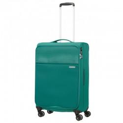 Vidējais koferis American Tourister Lite Ray V zaļš