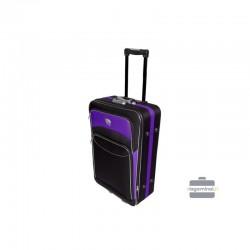 Vidējais koferis Deli 101-V Melna/violeta