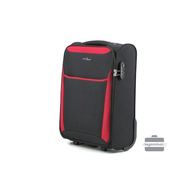 Mazais koferis Vip Travel V25-3S-231 Melna/sarkana