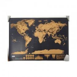 Pasaules karte futrālī nokasāma Angļu valodā (82x59 cm)