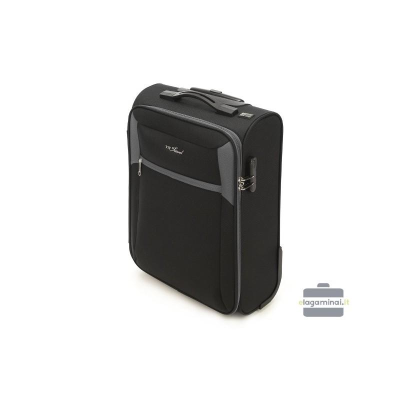 Mazais koferis Vip Travel V25-3S-231 Melna/pelēka