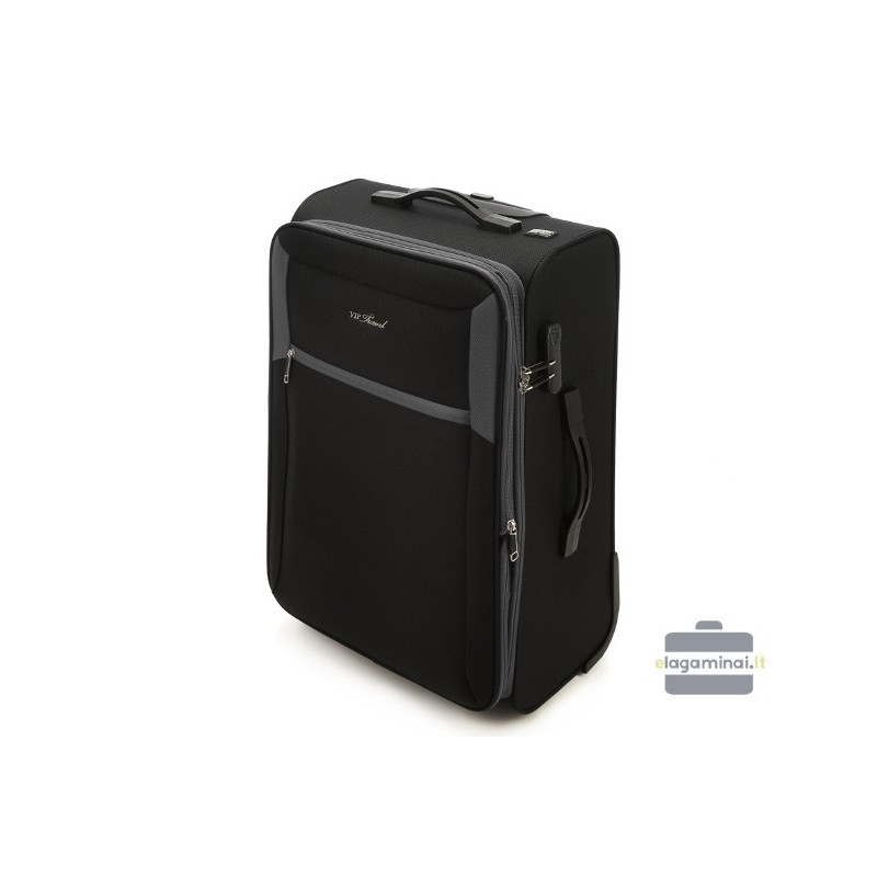 Liels koferis Vip Travel V25-3S-233 Melna/pelēka