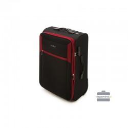 Vidējais koferis Vip Travel V25-3S-232 Melna/sarkana