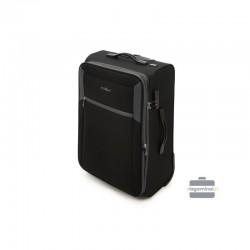 Vidējais koferis Vip Travel V25-3S-232 Melna/pelēka