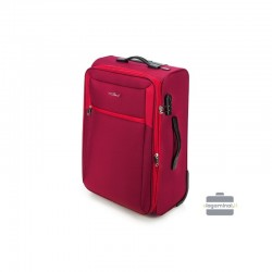 Vidējais koferis Vip Travel V25-3S-232 sarkana