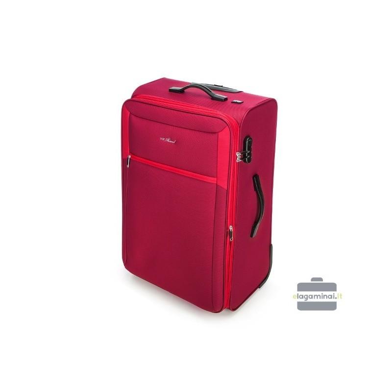 Liels koferis Vip Travel V25-3S-233 sarkana