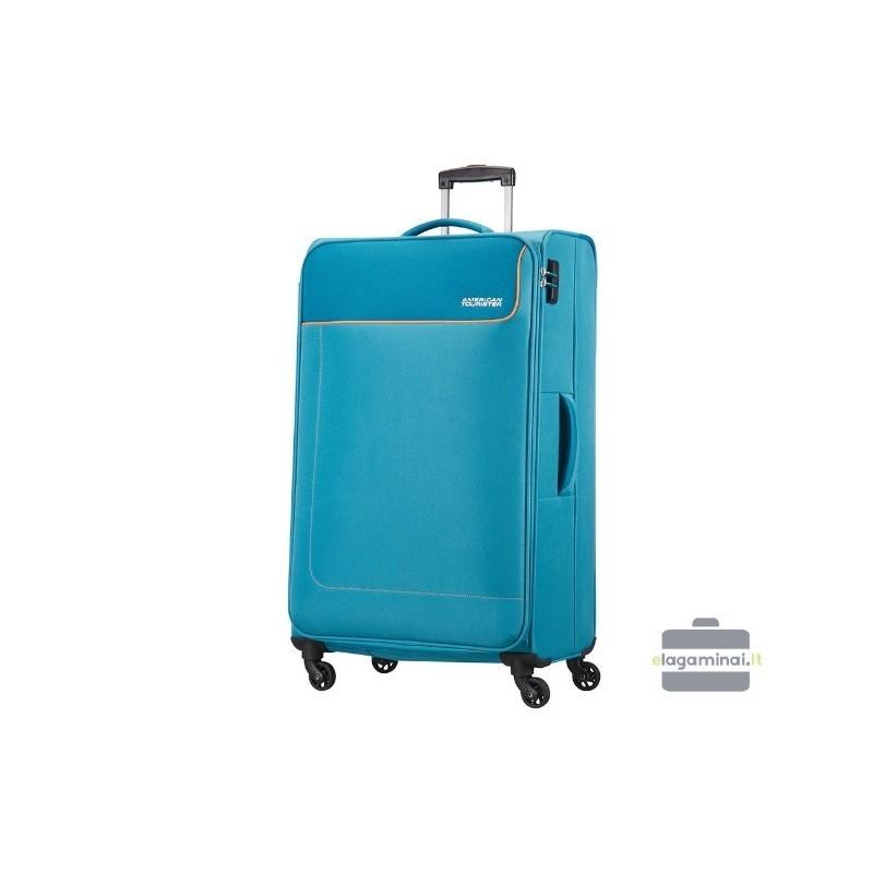 Liels koferis American Tourister Funshine D gaiši zila