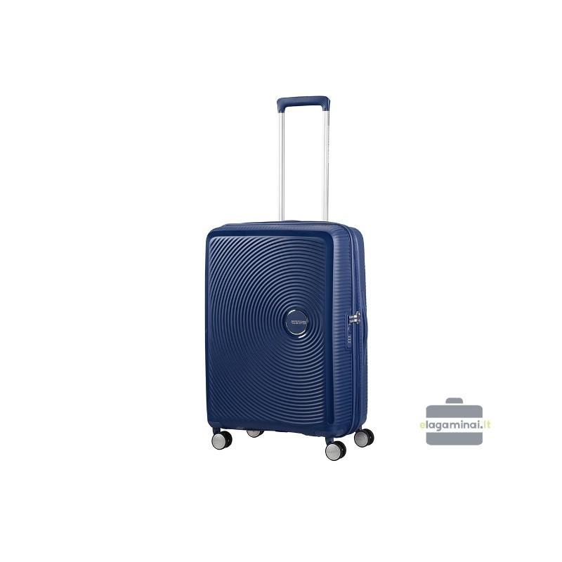 Vidējais koferis American Tourister Soundbox V dark blue