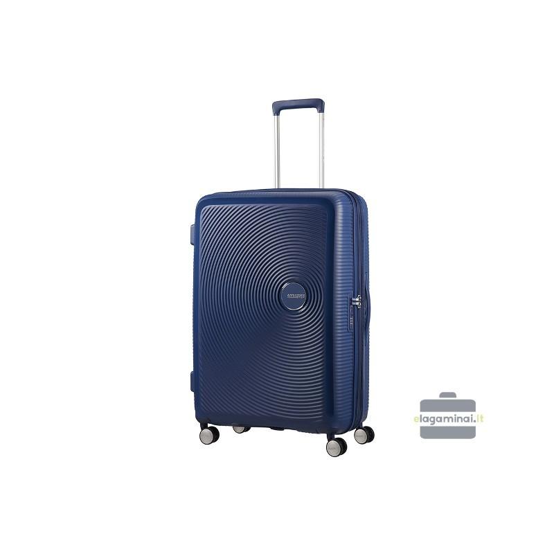 Liels koferis American Tourister Soundbox D dark blue
