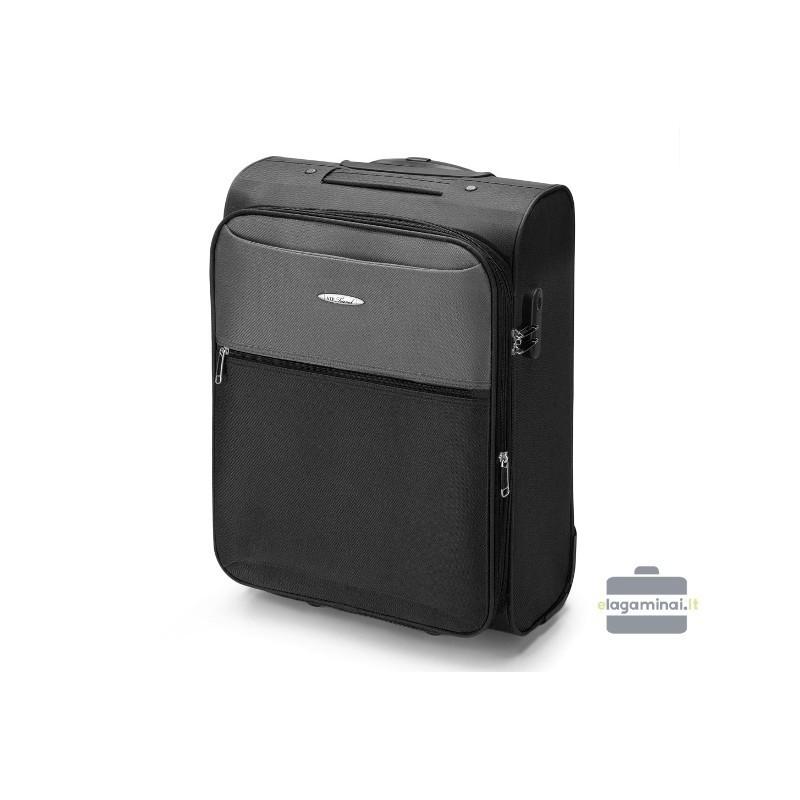 Rokas bagāža koferis VIP Travel V25-3S-241-M melns/pelēks