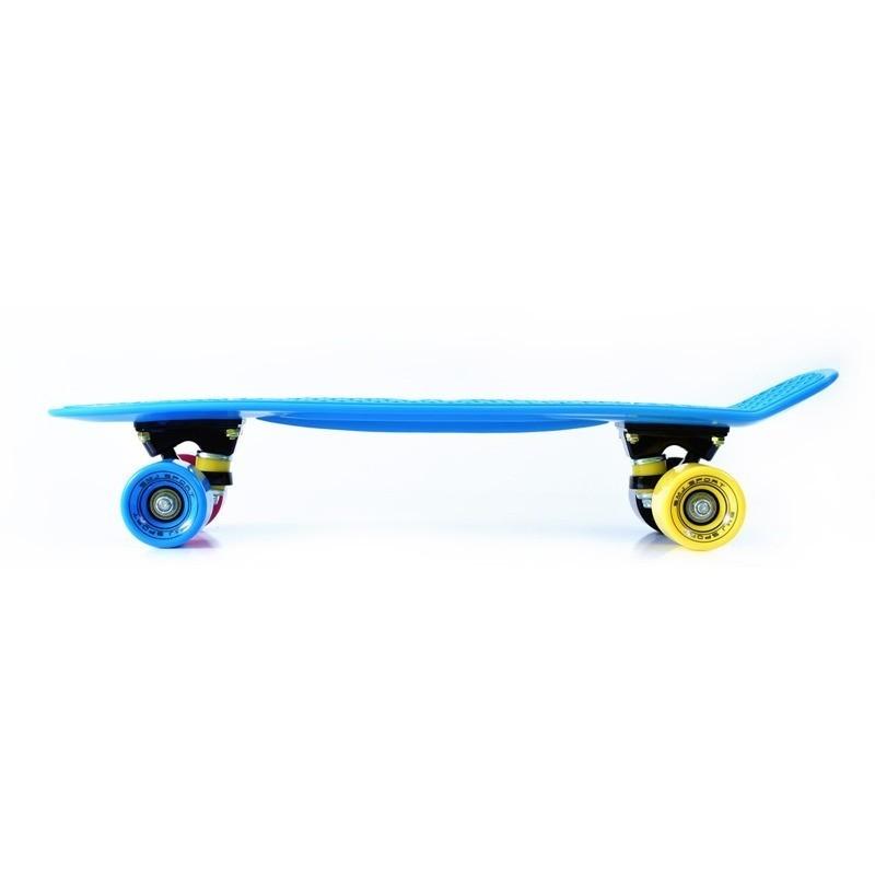 Cruizer pennyboard tipa skrituļdēlis ar krāsainiem lieliem ritenīšiem 22