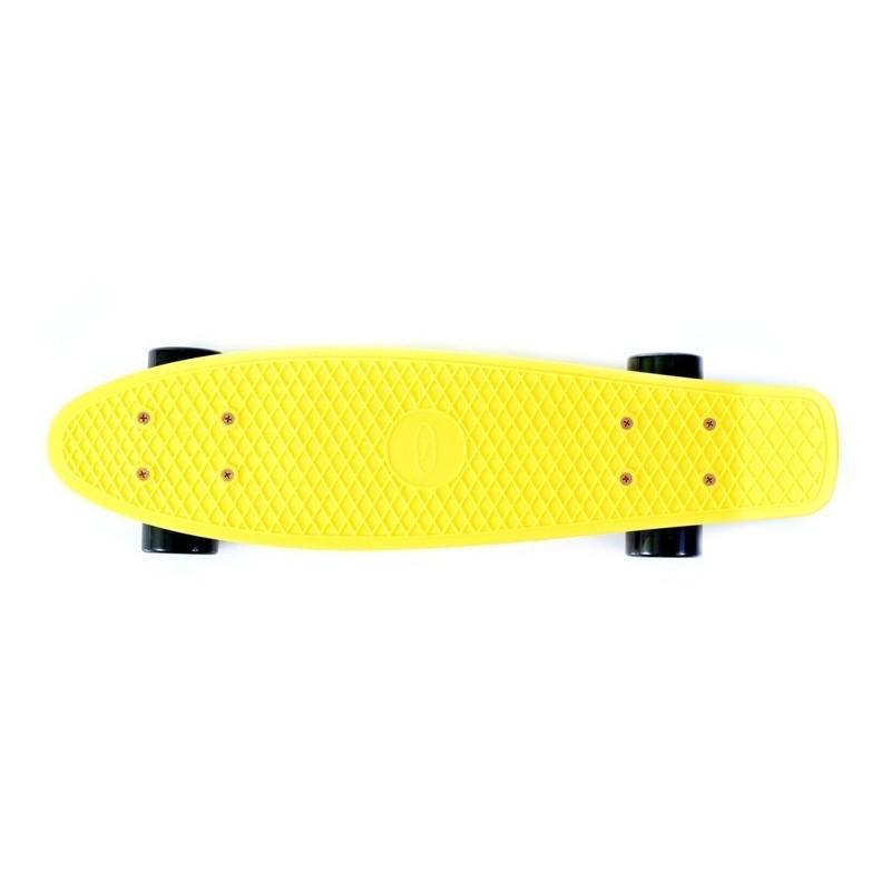 Spilgts un mazs plastmasas pennyboard skrituļdēlis ar lieliem riteņiem SUN