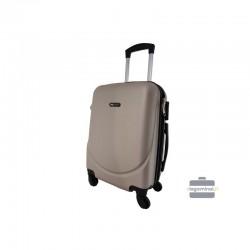 Rokas bagāža koferis Bagia 8091-M šampanietis