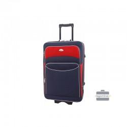 Vidējais koferis Deli 101-V tumši zils-sarkans