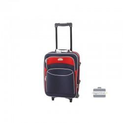 Rokas bagāža koferis Deli 101-M tumši zils-sarkans