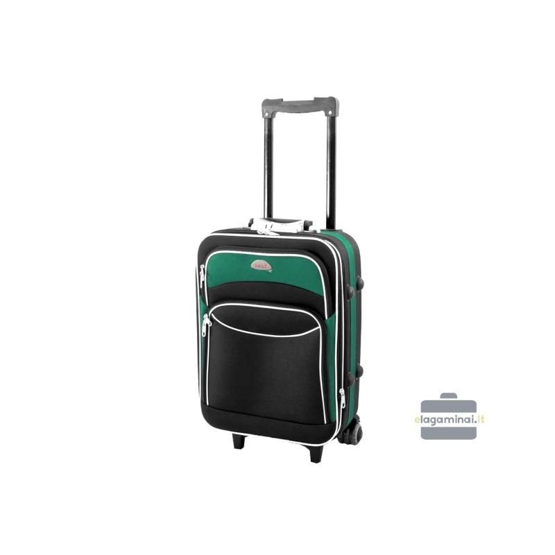 Rokas bagāža koferis Deli 101-M melns/zaļš