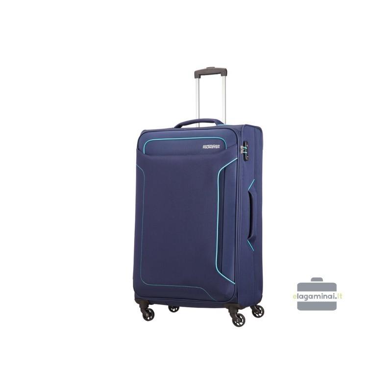 Liels koferis American Tourister Holiday Heat D tumšs zils