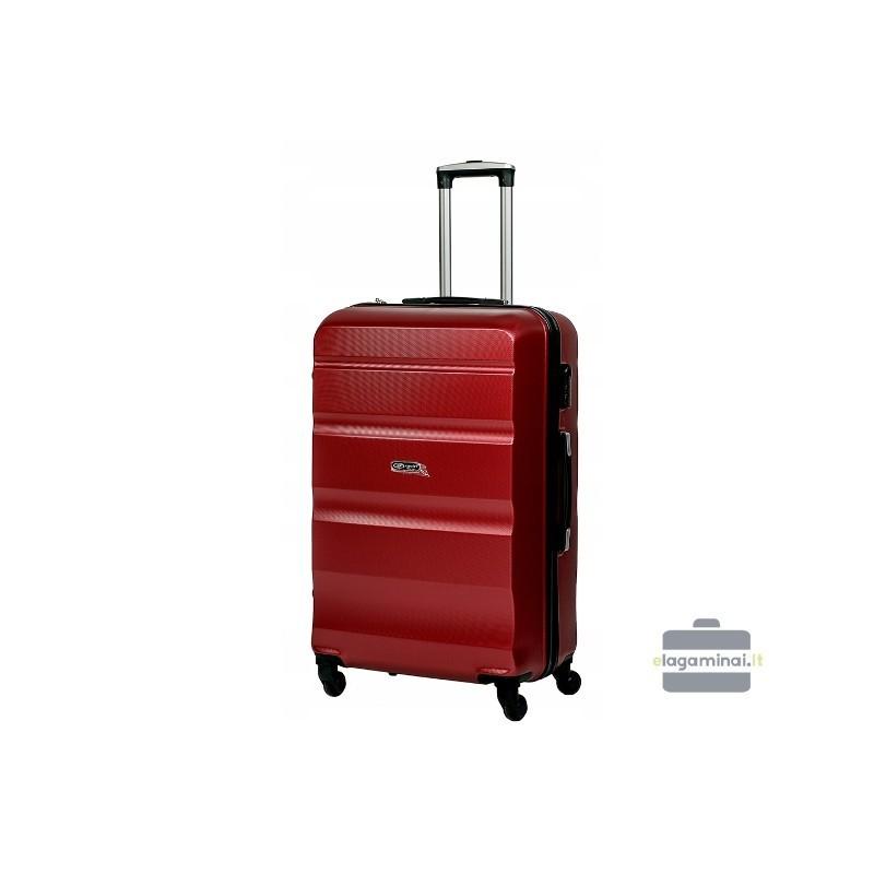 Vidējais koferis Gravitt Travel 710-V tumšs sarkans