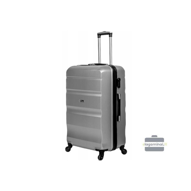 Vidējais koferis Gravitt Travel 710-V sudraba krāsa