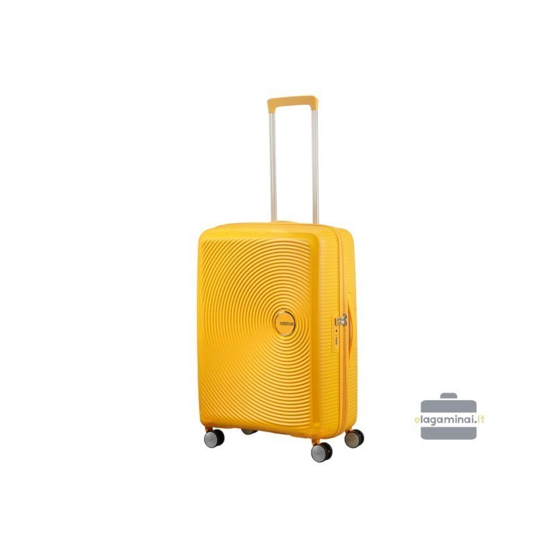 Vidējais koferis American Tourister Soundbox V dzeltens