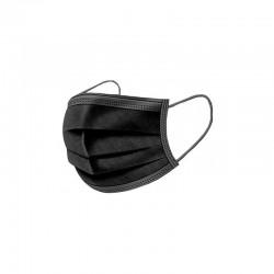 100 gb Melna vienreizlietojama 3 slāņu sejas maska