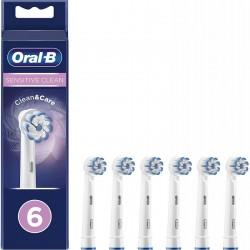 6gb Braun OralB Sensitive Clean - maināmās zobu sukas apaļas galvas ORAL-B