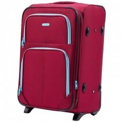 Vidutinis medžiaginis lagaminas Wings 214-2-V Tamsiai raudonas