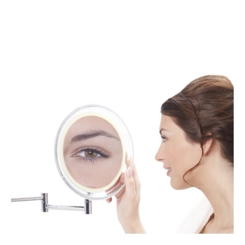 Palielināmais spogulis Lanaform ar saliekamo rāmi un LED apgaismojumu (x10)
